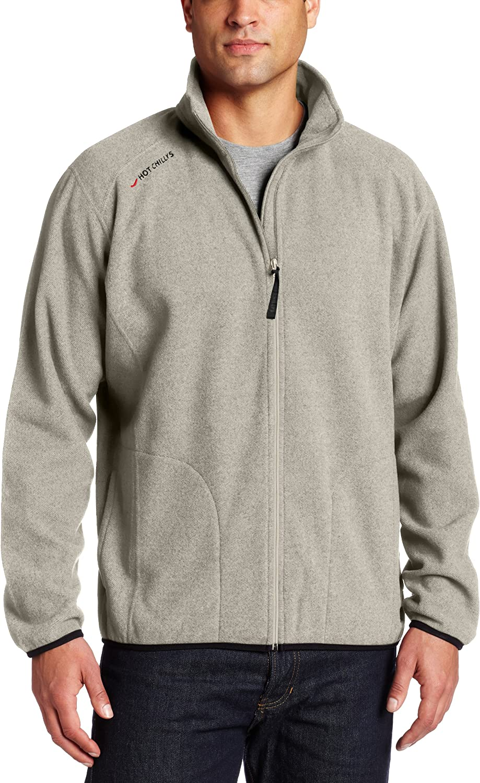 Hot Chillys Men's Baja Fleece Zip Jacket with Binding