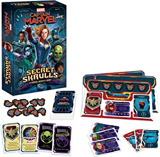 Captain Marvel: Secret Skrulls Card Game | Hidden Identity Game Featuring Marvel Universe Characters | Officially Licensed...