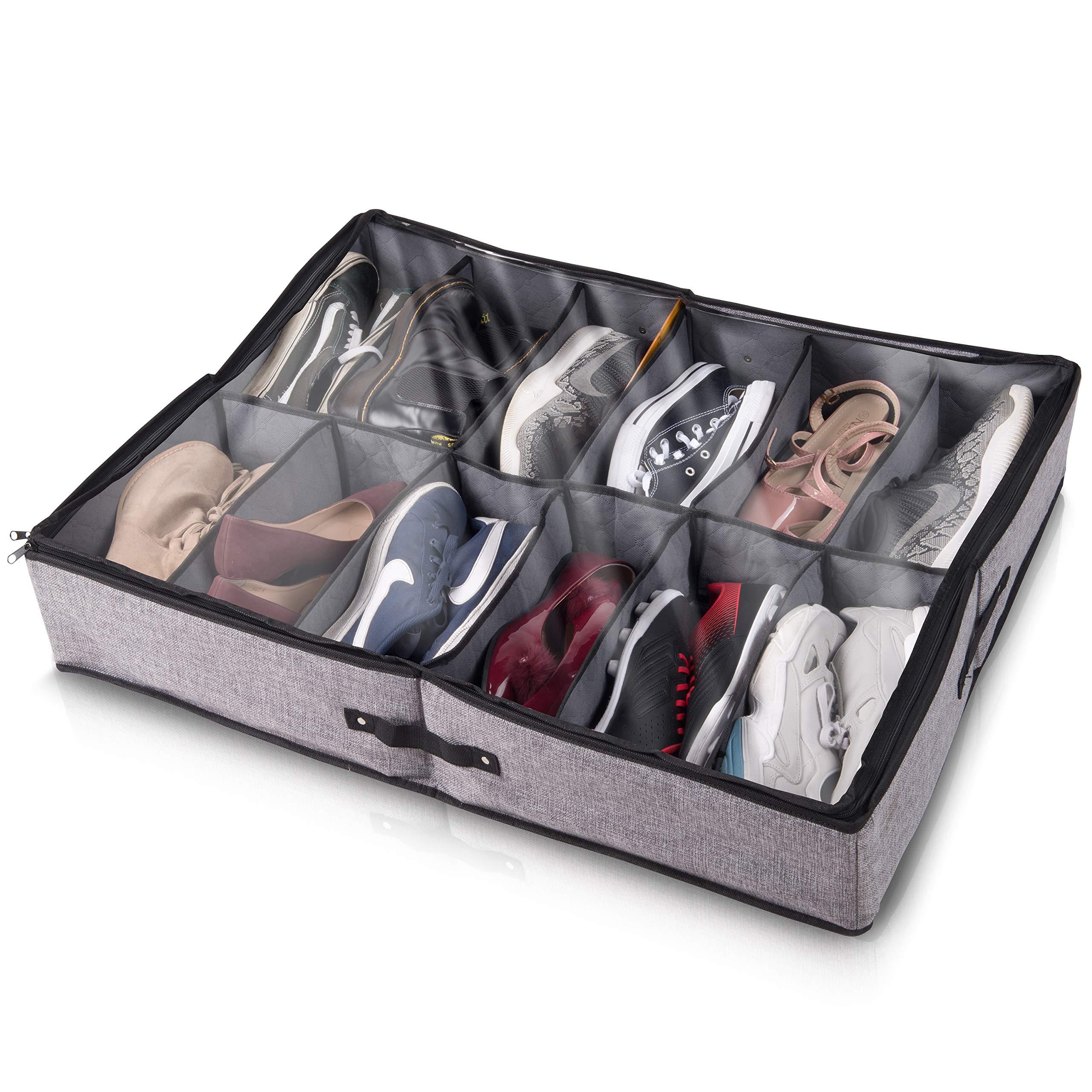 Insel Underbed Shoe Storage Organizer