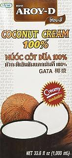 Aroy-D Coconut Cream, 33.8 Fluid Ounce (6-Pack)
