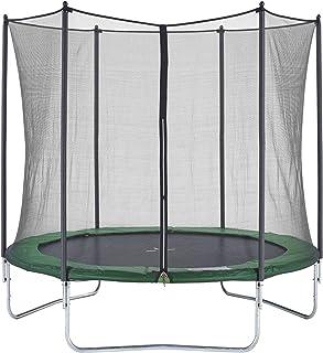 comprar comparacion CZON SPORTS - Cama elástica cerrada con red de seguridad, 2,5 m (verde)