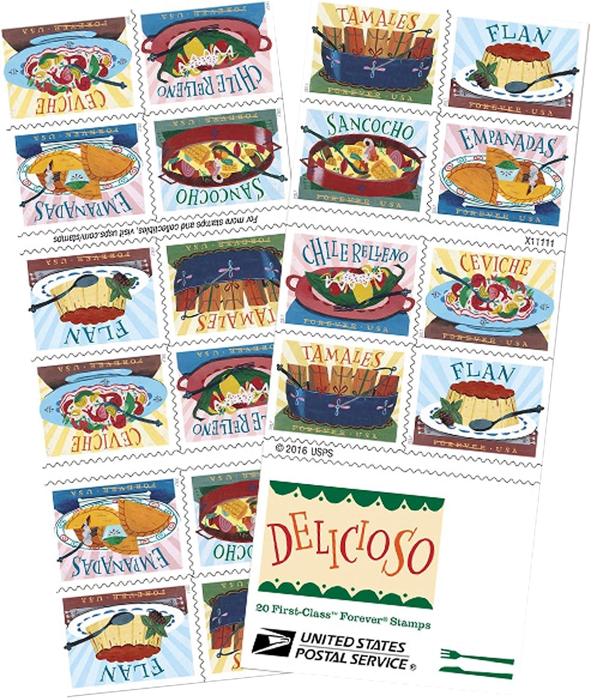 Delicioso Buch der 20USPS one-ounce-Forever Briefmarken lateinischer Lebensmittel Traditionelle 1 Book of 20
