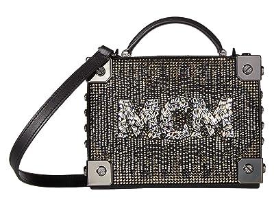 MCM Berlin Mosaic Crystal Crossbody Small (Black) Cross Body Handbags