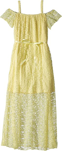 Pleated Lace Maxi Dress (Big Kids)