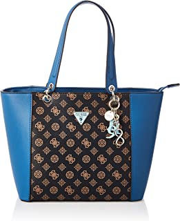 Guess Womens Tote Bag, Brown/Blue - SE669123