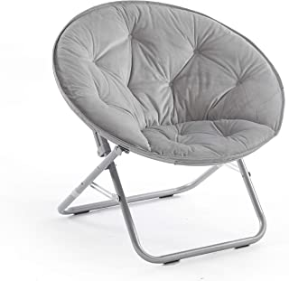 Urban Shop Micromink Saucer Chair, Grey