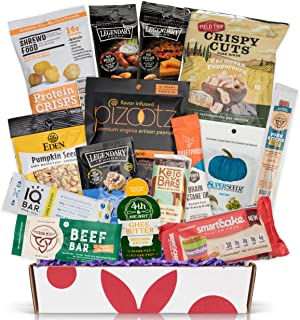 KETO Snacks care package: Ultra Low Carb, Low Sugar,High Fat Ketogenic Diet Snacks, Keto Bars, Cookies, Keto Jerky & Pork Rinds, Perfect Keto Holiday Gift Basket