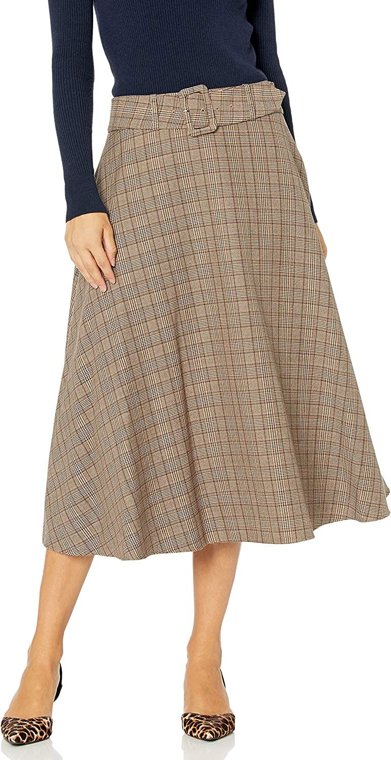 Tommy Hilfiger Women's Plaid Belted Maxi Skirt