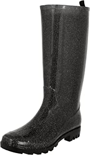 Capelli New York Ladies Tall Glitter Jelly Rain Boot
