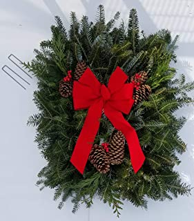 Fresh Natural Christmas Grave Blanket