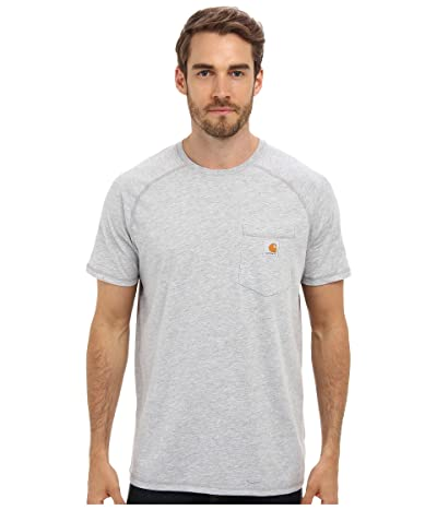 Carhartt Force(r) Cotton Delmont Short-Sleeve T-Shirt (Heather Gray) Men