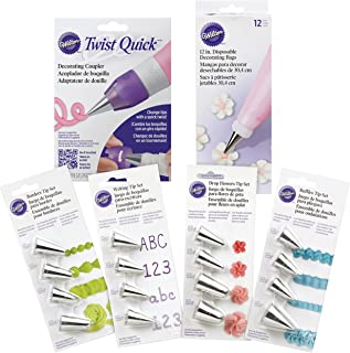 Wilton Icing Decorating Tips Set - Tips for Writing, Flowers, Ruffles, or Borders