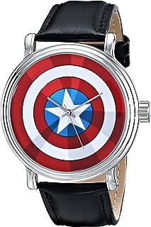ساعة مارفل للرجال W001770 ذا افنجرز كابتن امريكا كوارتز - اسود
