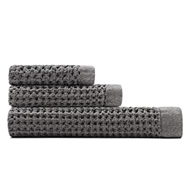 Onsen Bath Sheet Set - 100% Supima Cotton, Lightweight, Cinder Grey