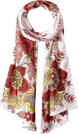 Resort Toile Silk Scarf