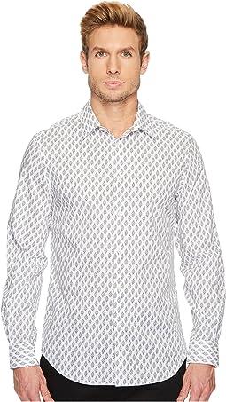 Perry Ellis - Regular Fit Bouquet Print Stretch Shirt