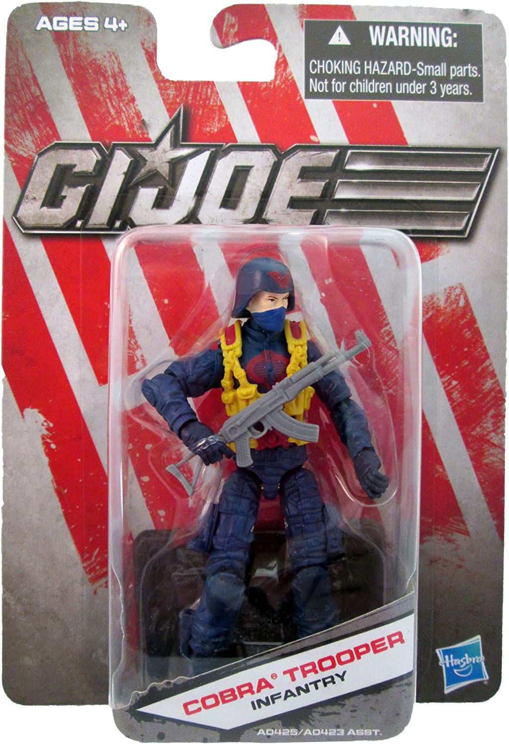G.I. Joe Exclusive Action Figure  Cobra Trooper Infantry (bluee Outfit)