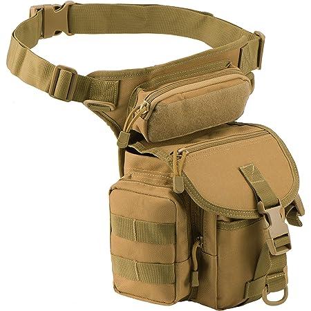 Military Tactical Drop Leg Sac Randonnée Sac à taille Fanny cuisse pack pour équitation