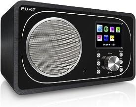 Pure Evoke F3 Internet, DAB/DAB+ Digital and FM Radio with Spotify Connect and Bluetooth - Black (Renewed)