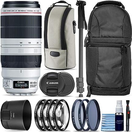 $1799 » Canon EF 100-400mm f/4.5-5.6L is II USM Lens + Sling Backpack + Monopod + 3 Piece Pro Filter Kit + 4 Piece Close-Up Lens Set + Lens Pen + Lens Cleaning Kit Pro Travel Bundle