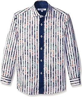 Isaac Mizrahi Boys' Floral Stripe Shirt