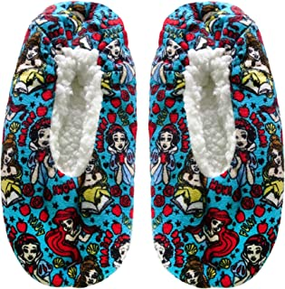 Disney Princesses Women's Fuzzy Babba Slipper Socks