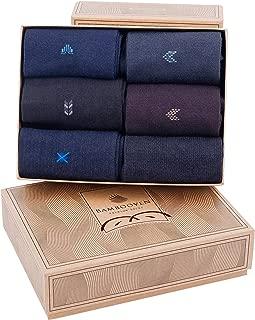 Men's 6 Pairs Premium Bamboo Dress and Trouser Socks