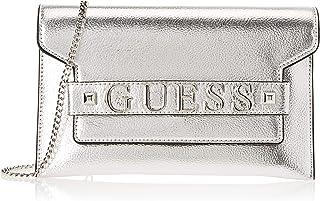 Guess Felix, Damen Umhängetasche, Silber (Silver/Sil), 25.5x15x1 cm (W x H L)