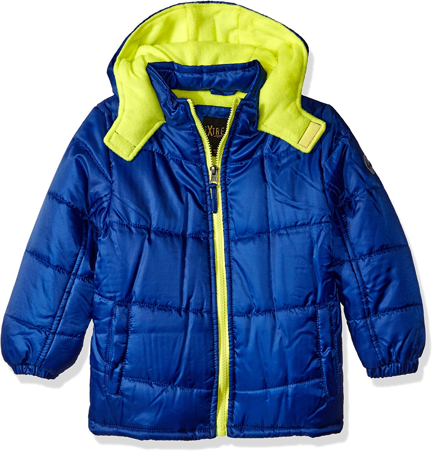 iXtreme Baby Boys Ripstop Puffer With Pop Color Zipper