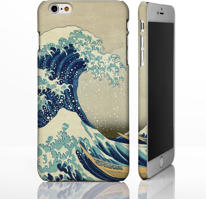 Coque pour téléphones iPhone Motif œuvre de peintre célèbre Collection art Hokusai Protection artistique intégrale, plastique, The Great Wave off ...