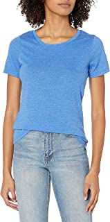French Toast Women's Short Sleeve Crewneck Tee, Small - Princess Blue Heather