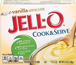 JELL-O Vanilla Cook & Serve Pudding Mix (4.6 oz Box)