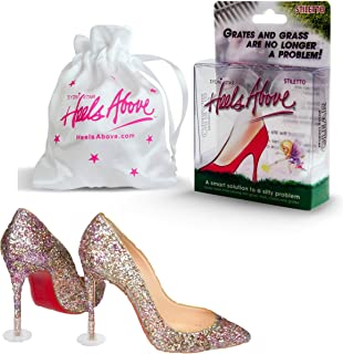 Heels Above High Heel Protectors (2 Pairs) Plus Bonus Carrying Pouch - Never Sink into Grass Again.