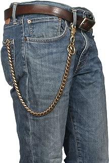 brass wallet chain