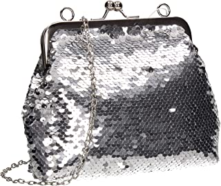 SWANKYSWANS Britney 2 Way Sequin Womens Party Prom Clutch Bag