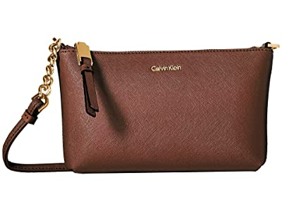 Calvin Klein Hayden Saffiano Key Item Crossbody (Walnut) Cross Body Handbags