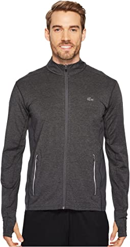 Brushed Stretch Jersey Full Zip Sweatshirt