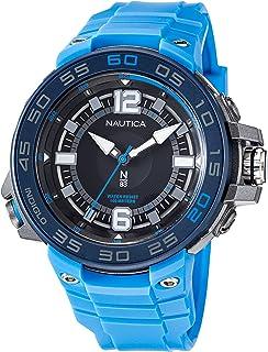 Nautica Men's Quartz Polyurethane Strap, Blue, 28 Casual Watch (Model: NAPCNF107)