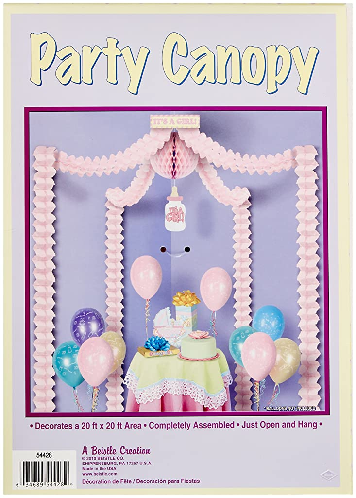 It's A Girl Party Canopy Party Accessory (1 count) (1/Pkg)