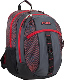 Fuel Sport Active Multi-Functional Backpack, Black/Red Wavy Lines
