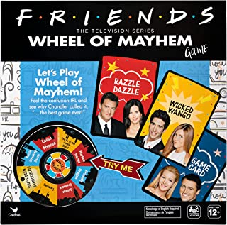 Friends TV Show, Wheel of Mayhem Game, for Adults and Kids Ages 12 and up, Multicolor, Spin Master, 6054083, Cardinal Games