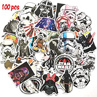 100 Pcs Star Wars Sticker Pack,Unique Cool Stickers Notebook Guitar Skateboard Travel Stickers Waterproof