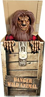 Forum Novelties Animatronic Prop Animated Wolf in a Box for Party Decoration, Brown