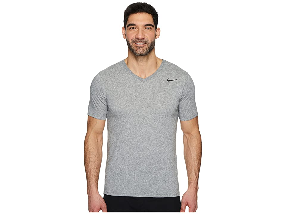 Nike Dry Training V-Neck T-Shirt (Carbon Heather) Men