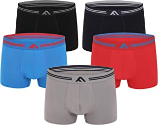 FM London 5-Pack Super Soft Bamboo Men's Boxers | Tagless, Stretch Fit, Earth Friendly