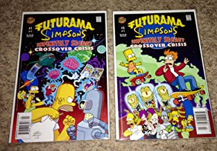 Futurama Simpsons Infinitely Secret Crossover Crisis/ Set of 2 Comics Numbers 1, 2