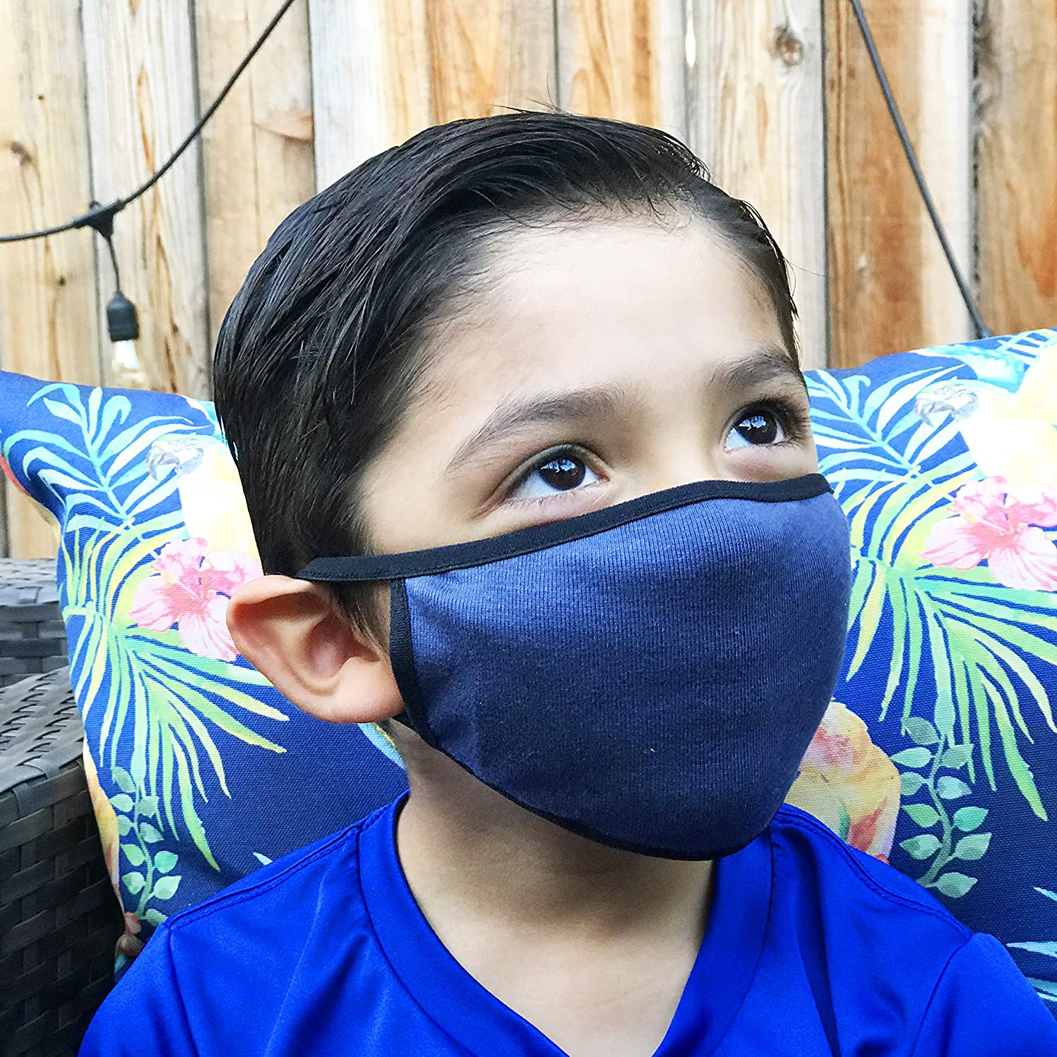 Navy Blue Organic Cotton Face Mask filt with and kids Adults for Long Beach discount Mall