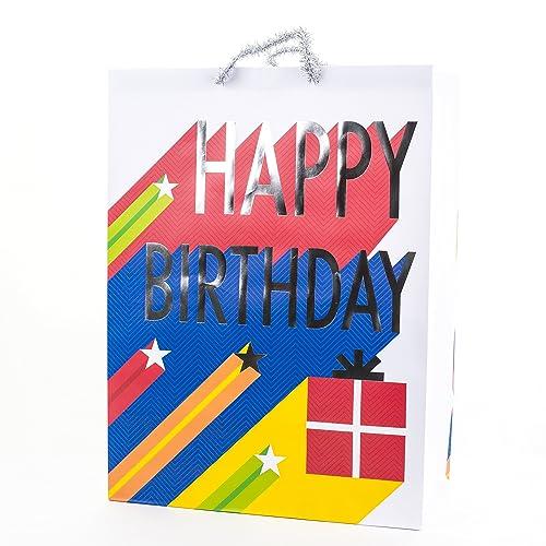 Hallmark Oversized Birthday Gift Bag Stars