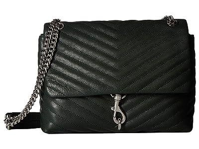 Rebecca Minkoff Edie Flap Shoulder Bag (Pine) Handbags