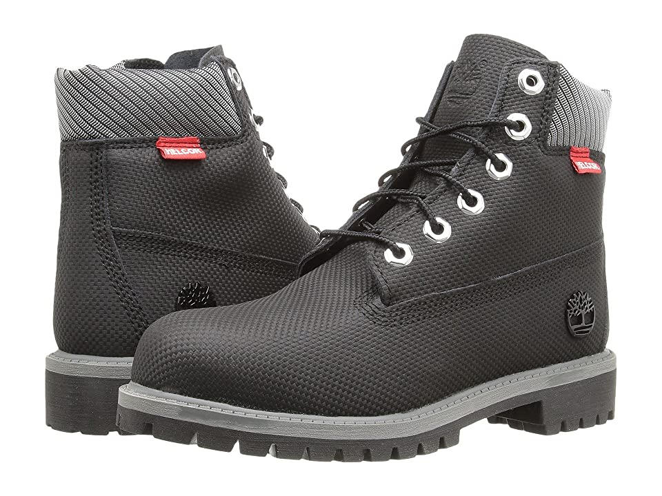 c9059a7ebe36 Timberland Kids 6 Premium Waterproof Boot Core (Big Kid) (Black Relief  Helcor)